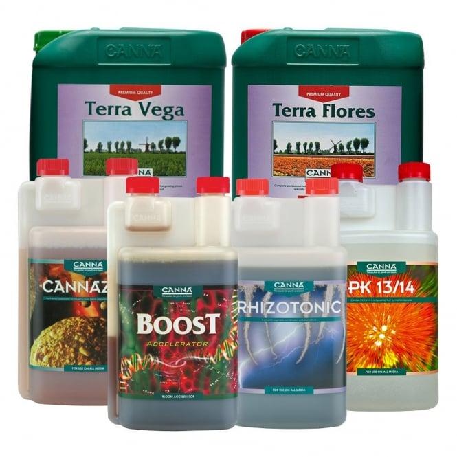 Canna soil nutrient kit 5 litres canna nutrients for Soil nutrients