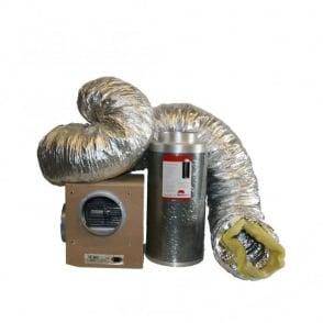 "Tornado 10"" (250mm) Acoustic Box Fan & Rhino Pro Ventilation Kit"